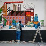 fresque in progress (A4 & Fräneck)…